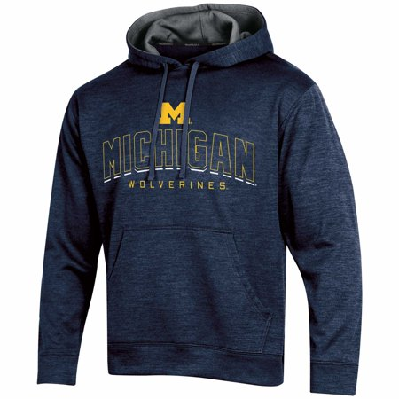 Michigan Wolverines Mens Sweatshirts (Men's Russell Navy Michigan Wolverines Synthetic Pullover)