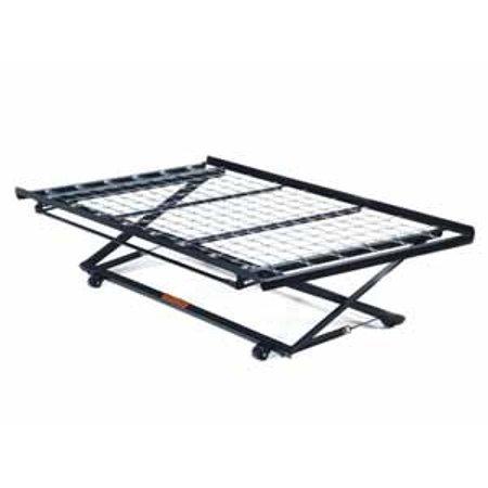 02506 frame twin pop up trundle bed frame w link spring metal. Black Bedroom Furniture Sets. Home Design Ideas
