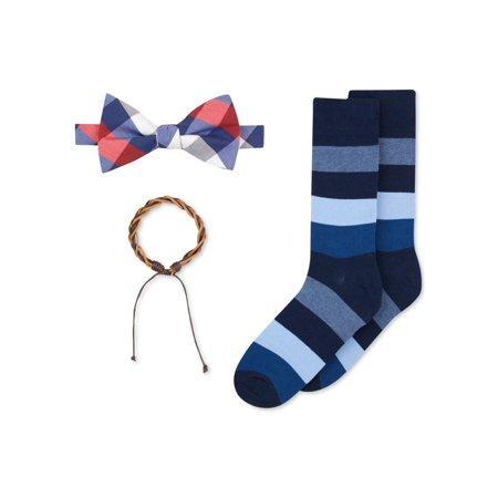 bar III Mens Bracelet & Socks Bow Tie 400 One Size - image 1 de 1