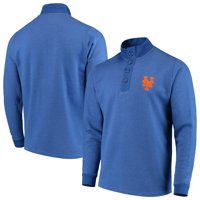 New York Mets Antigua Pivotal Button Pullover Sweatshirt - Royal