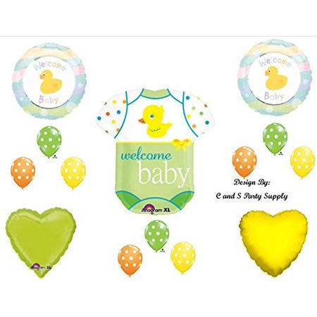 Baby Onesie with Duck Shower Balloons Decorations Supplies Ducky - Ducky Baby Shower Decorations