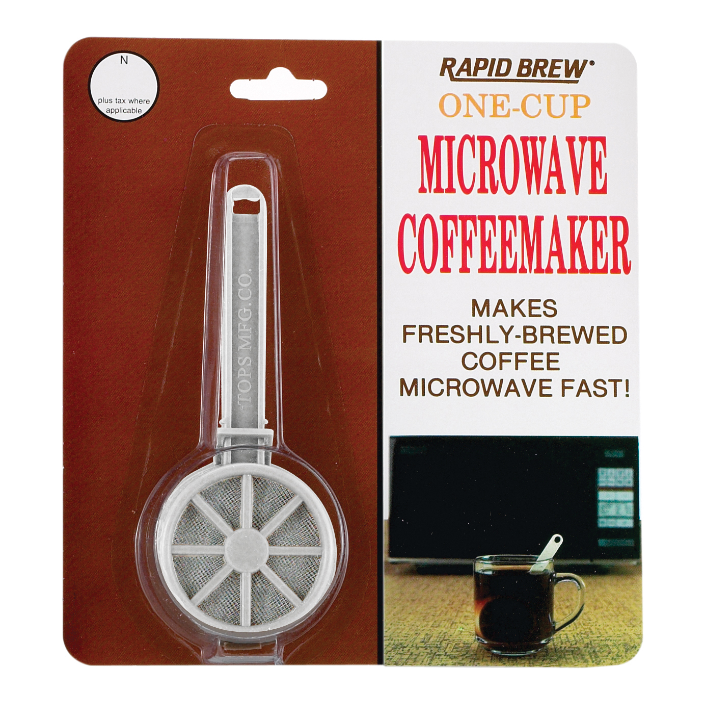 Perma-Brew COFFEE MAKER/TEA INFUSER One Cup Microwave Dishwasher Safe (2-Pack)