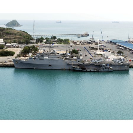 LAMINATED POSTER The amphibious transport dock ship USS Juneau (LPD 10) is one moored pier side in the Gulf of Thaila Poster Print 24 x 36 ()