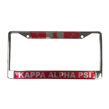 Kappa Alpha Psi  1 Line Number Silver License Plate Frame