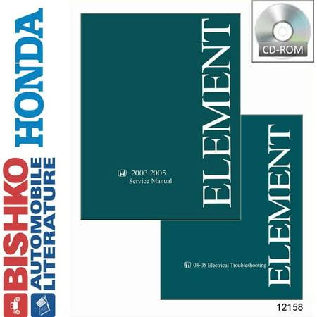 Bishko OEM Digital Repair Maintenance Shop Manual CD for Honda Element w/ Etm 2003 - 2005 - Oem Shop Repair Manual