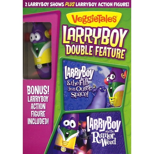 Larryboy Double Feature: Larryboy & The Fib From Outer Space / Larryboy And The Rumor Weed (With Larryboy Action Figure) (Full Frame, WALMART EXCLUSIVE)