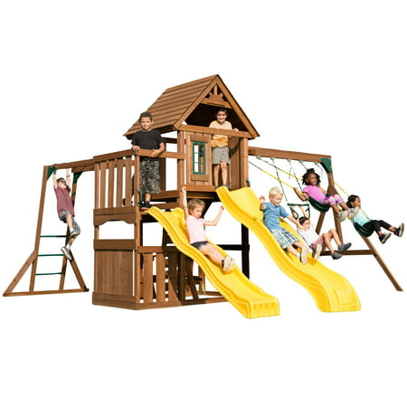 Swing-N-Slide Timberview Wooden Swing Set