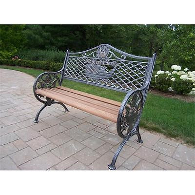 Brand New Oakland Living Corporation 6046-AP GOD Bless America Bench Home Furniture GSS103418 Istilo117001 by GSS
