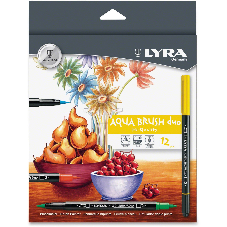 LYRA Dual Tip Marker, Assorted, 12 per Pack