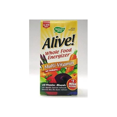 Natures Way Alive  Multivitamin  Max Potency No Iron Added  60 Ct