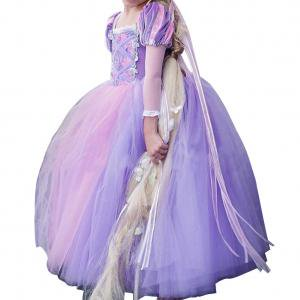 Fancyleo Kids Girls Princess Cinderella Rapunzel Dresses Full Ball Gown Long Party Dress Kids Cosplay Costume Masquerade](Good Cosplay Characters)