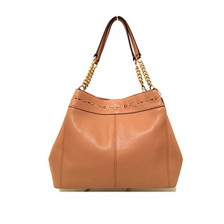 Coach F25894 Lexy Chain Shoulder Bag Floral Tooling Nude/Pink Pebble