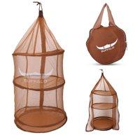 OTVIAP 4 Layers Multi Function Drying Rack Hanging Dry Net Foldable Round Mesh Storage Basket, Hanging Storage Basket,Drying Rack