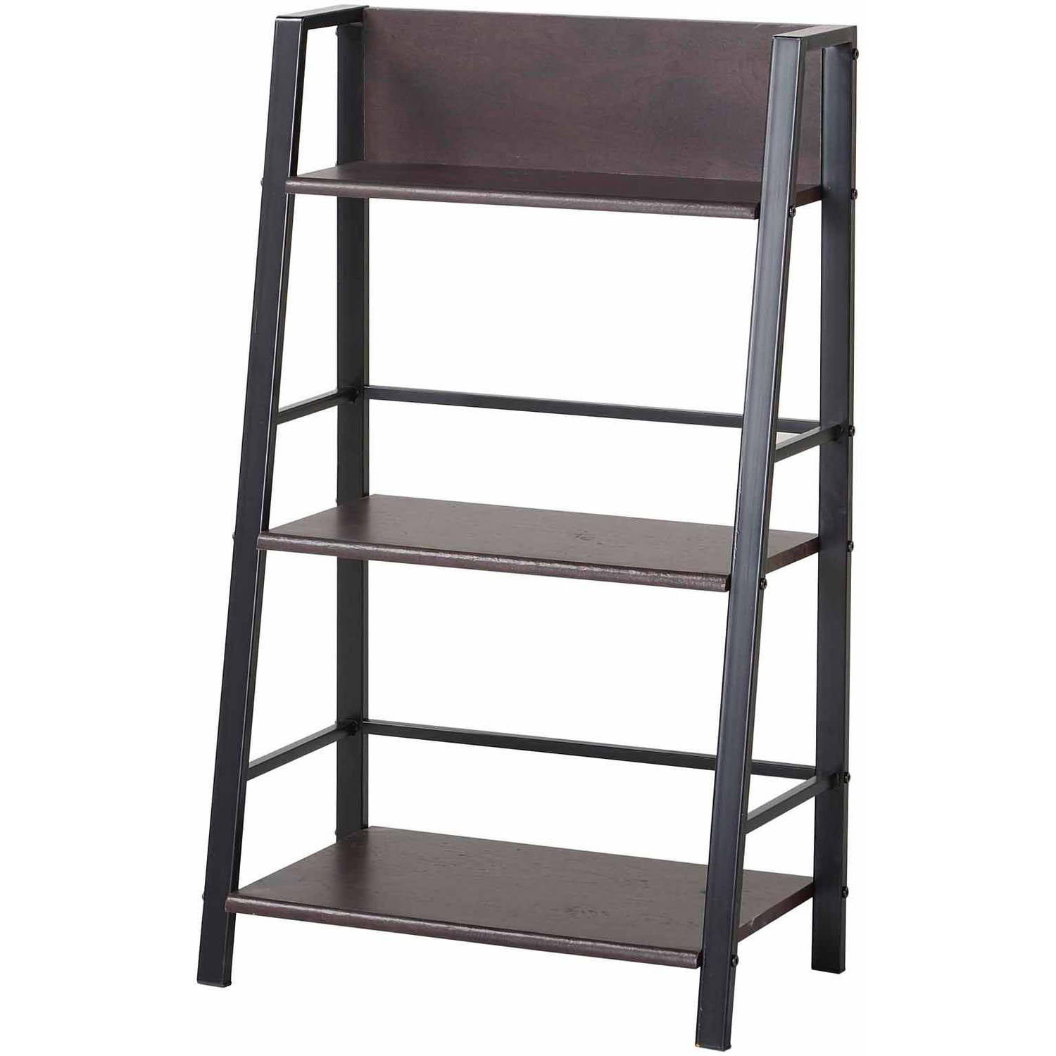 Leaning ladder bookcase walmart roselawnlutheran for Two tier desk ikea