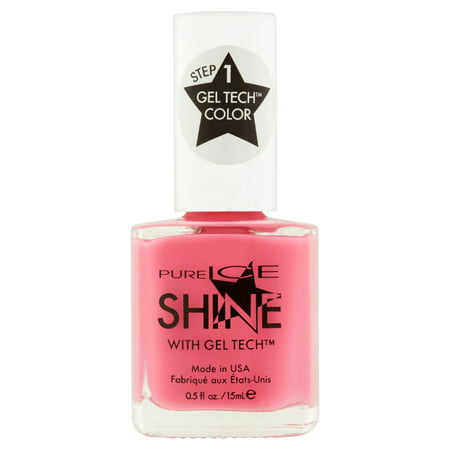 Pure Ice Shine with Gel Tech Nail Polish, Sleek Peek, 0.5 fl oz