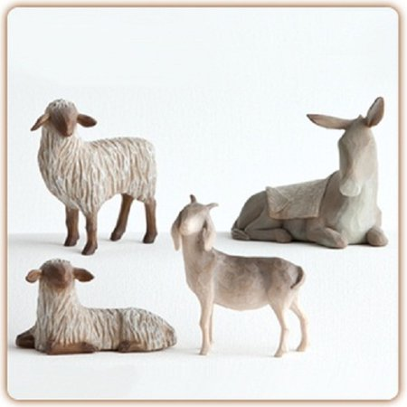 Willow Tree Sheltering Animals For The Holy Family 4 Piece Set Susan Lordi 27160