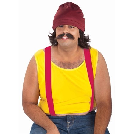 Cheech And Chong Costumes (Cheech And Chong Hat Moustache Wig Adult Costume Set Kit)