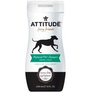 ATTITUDE Furry Friends Natural Pet Shampoo Shiny Coat, 8 Ounce