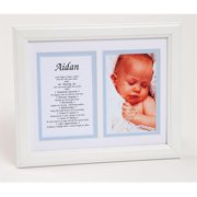 Townsend FN04Aden Personalized First Name Baby Boy & Meaning Print - Framed, Name - Aden