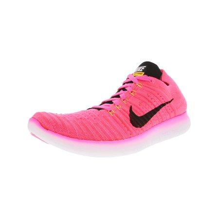 Nike - Nike Womens Free Rn Flyknit Pink Blast  Black Laser Orange - Hypr  Pnc Ankle-High Running Shoe 8.5M - Walmart.com