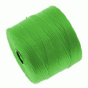 BeadSmith Super-Lon (S-Lon) Cord - Size #18 Twisted Nylon - Neon Green (77 Yard Spool)