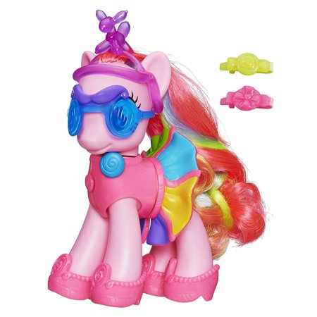 Fashion Style Pinkie Pie Figure, Fun, lovable ponies feature pretty hair, many colors and unique Cutie Mark designs By My Little (My Little Pony Purple With Yellow Hair)