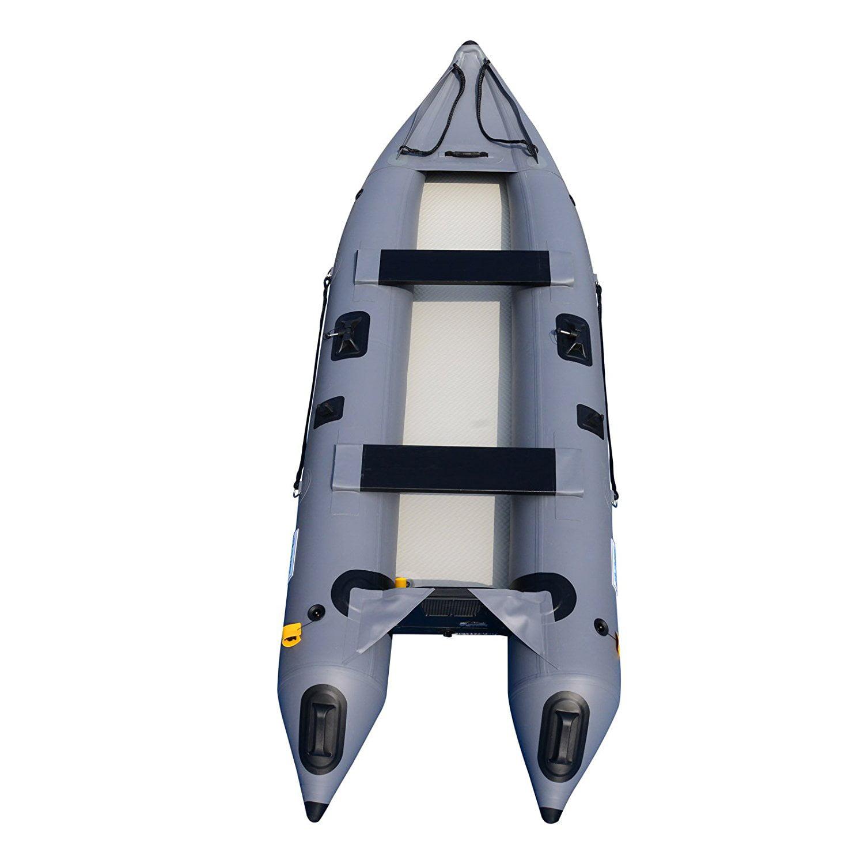 12Ft Inflatable Kayak Fishing Boat Tender Canoe Pontoon K...