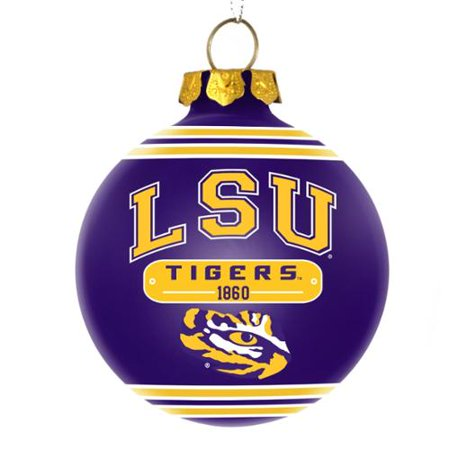 LSU Tigers Official NCAA 3 inch x 3 inch 2014 Year Plaque Ball Ornament by Forever Collectibles