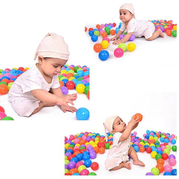 100pcs Colorful Ball Fun Ball Soft Plastic Ocean Ball Baby Kid Toy Swim Pit Toy
