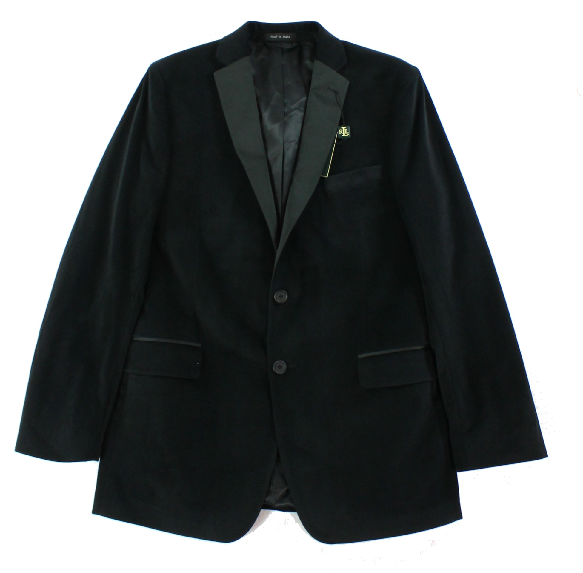 Ralph Lauren NEW Black Boys Size 20 Faux Suede 2-Button B...
