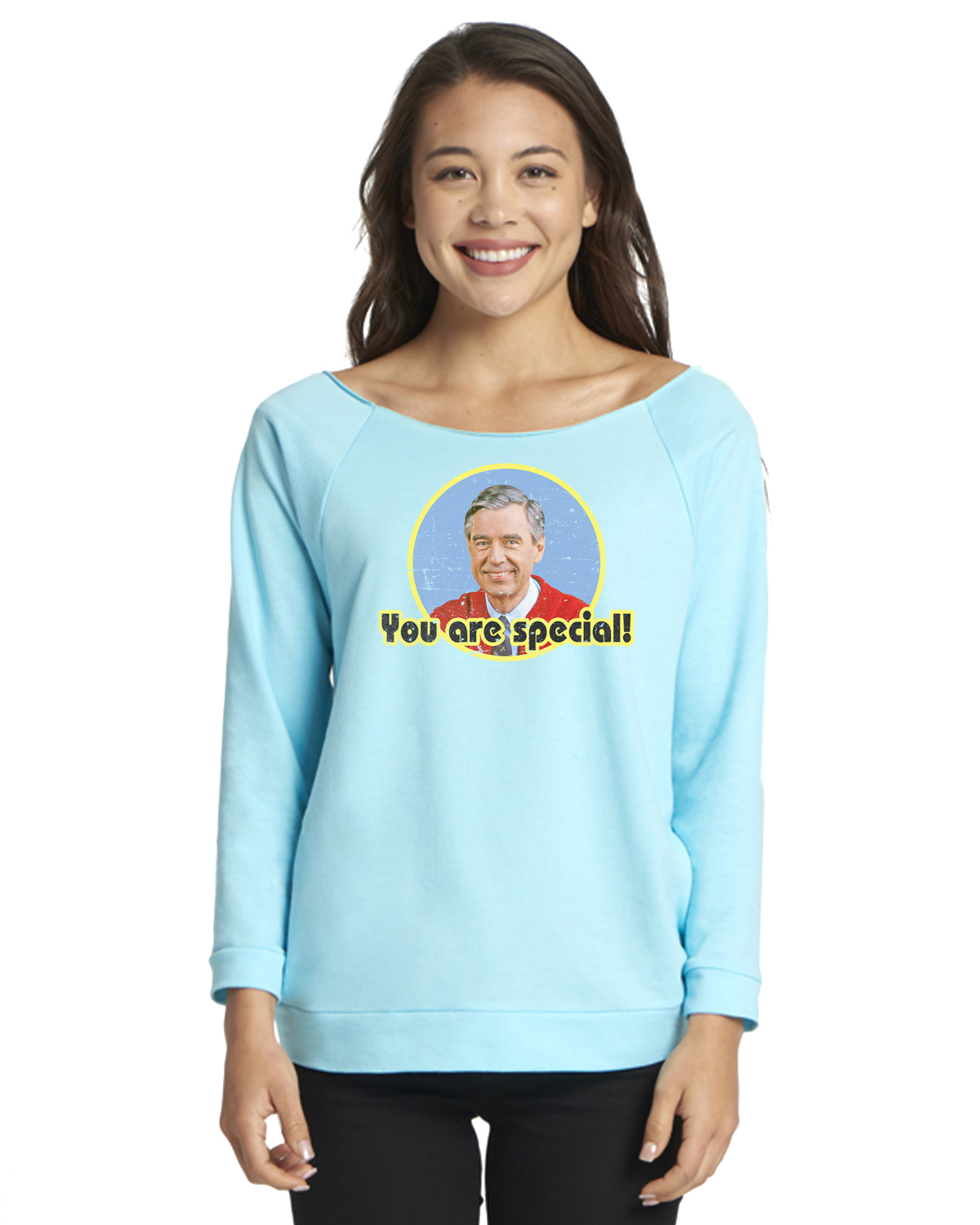 Custom Apparel R Us Mr Rogers You Are Special Womens Graphic Tees Off Shoulder Walmart Com