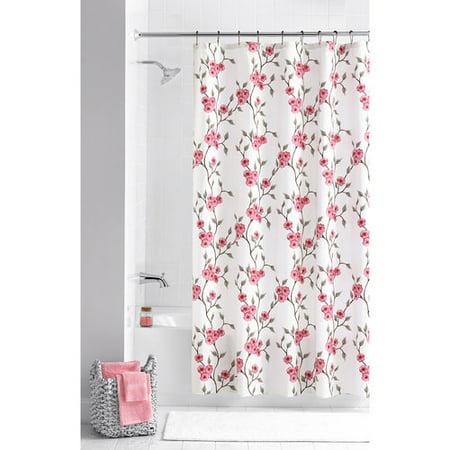 Mainstays Multi Color Amelia Piece Floral Shower Curtain Set