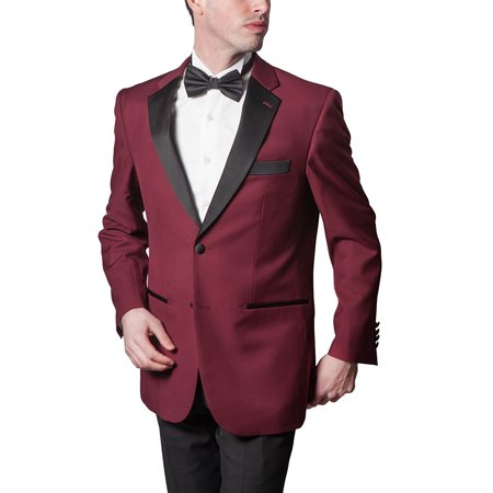 Adam Baker Men's Classic Fit Two-Piece Notch Lapel Formal Tuxedo Suit - Available In Many Sizes & (Classic Notch Tuxedo)