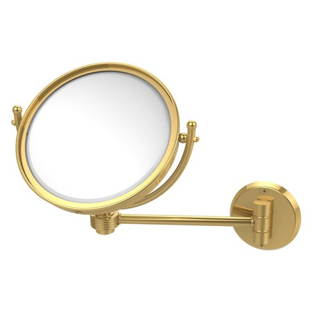 Allied Brass 8 in. Wall Mounted Makeup Mirror with 5X Magnification (Allied Brass Appliance)