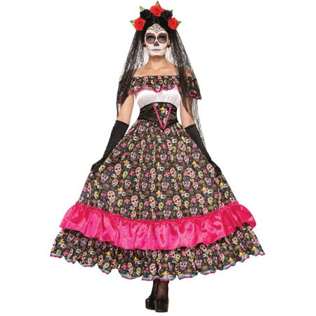 Spanish Woman Costume (Morris Costumes FM74798 Day of Dead Spanish Lady)