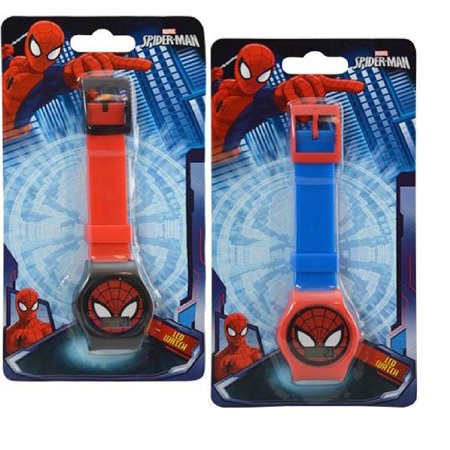 Marvel Spiderman Digital Watch on Blister Card 2 Colors Asstd., Made of good quality material and absolutely cute! By Party Favors - Good Witch Halloween Watch