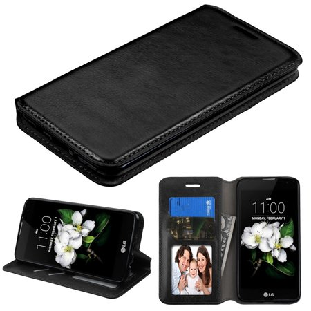 LG Aristo 3 / Aristo 2 / 2 Plus Phone Case Leather Flip Wallet Cover Stand Pouch Credit Card Holder Slot BLACK Hard Case Cover for LG Aristo 3 / - Hard Case Cover Pouch