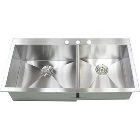 Contempo Living FT4321 43 in. Top-Mount Drop in Double Bowl Zero ...