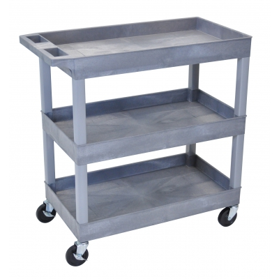 Luxor/ H Wilson Three Shelf Utility Cart LUXEC111G
