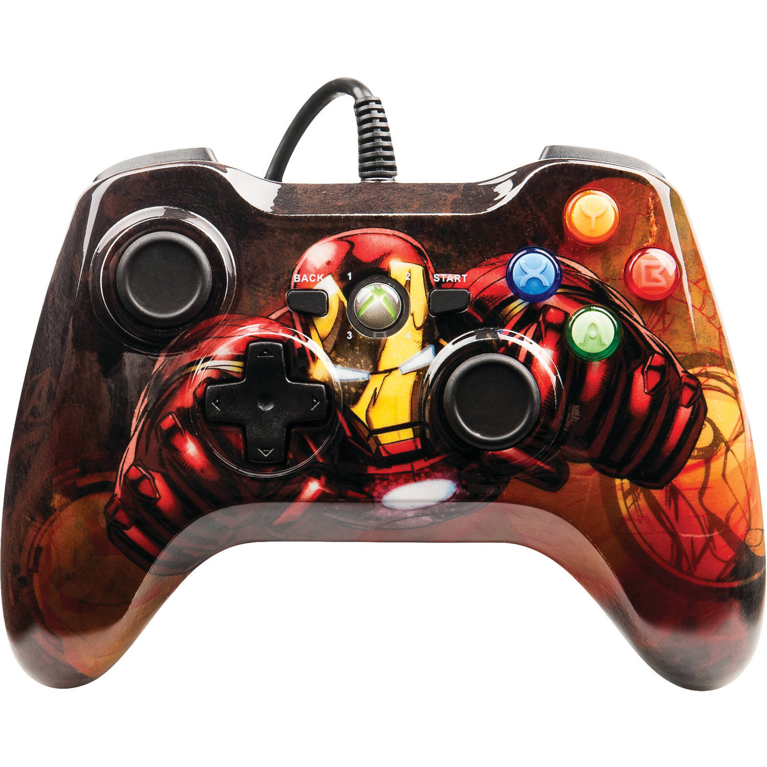 Xbox 360 Wired Marvel Iron Man Controller
