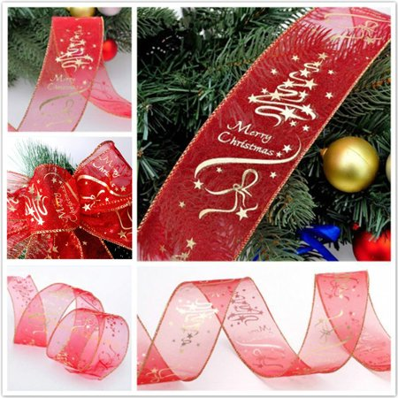 2M Wired Edge Christmas Ribbon Packaging Decoration Craft Gift - Wired Gift Ribbon