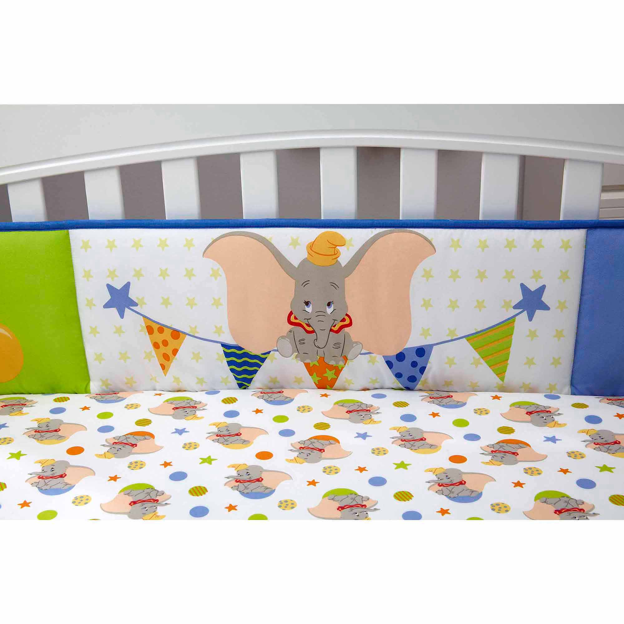 Disney Baby Bedding Dumbo Secure-Me Crib Bumper