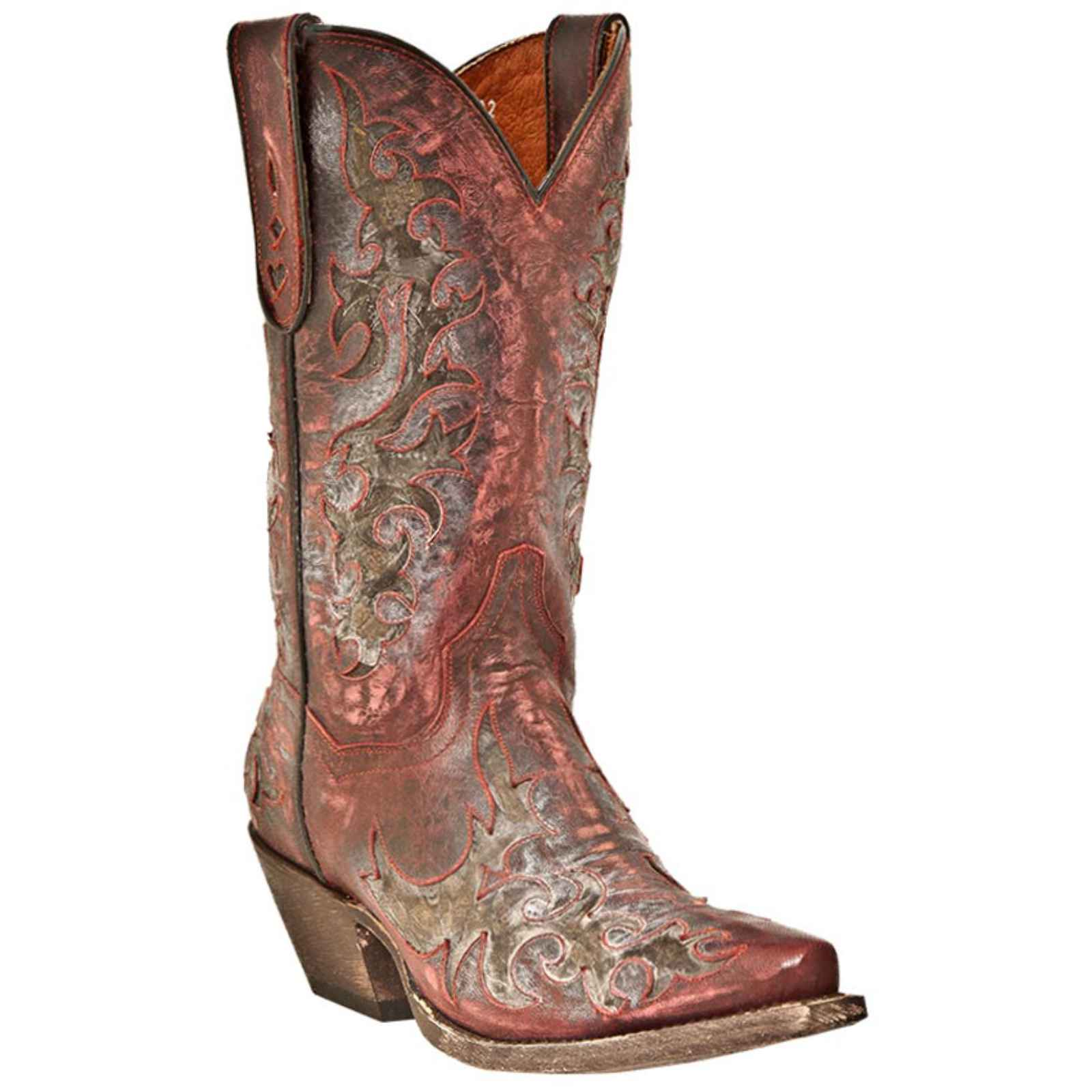 "Dan Post Men's 13"" Red Sanded Zephyr Snip Western Boot, DPP4744 by DAN POST"