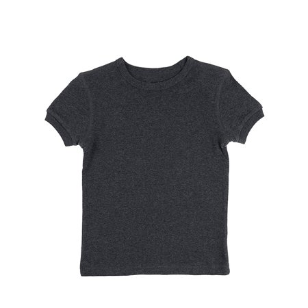 Leveret Short Sleeve Top Boys Girls Kids T-Shirt 100% Cotton (Dark Grey,Size 6 Years)