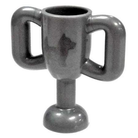 Logo Dog (LEGO LEGO City Silver Medium Trophy Cup with Dog Print )