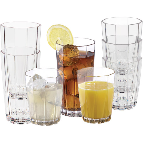 Creative Bath 24-Ounce Stackable Tumblers, Set of 12