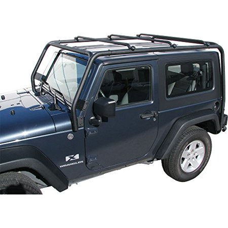 J021T Trail FX Black Roof Rack Jeep Wrangler