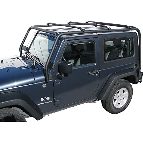 J021T Trail FX Black Roof Rack Jeep Wrangler 2 Door