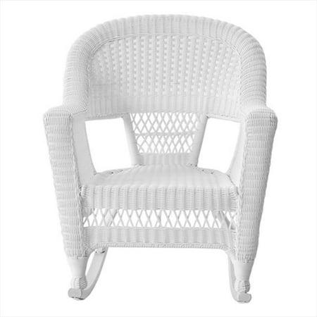 Jeco W00206R-B-2 White Rocker Wicker Chair - Set 2 ()