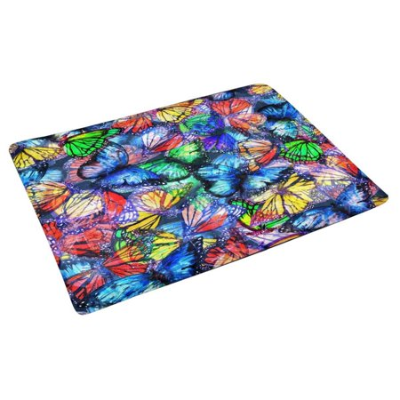 POP Butterfly of Colorful Butterflies Flying Doormat Non Slip Indoor/Outdoor Doormat Floor Mat Home Decor Entrance Rug 30x18 inches - image 2 of 3